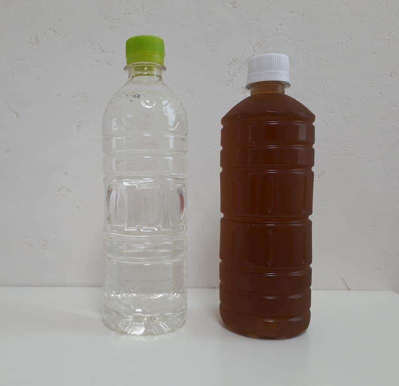 600mlペットボトル2種 大きさ比較